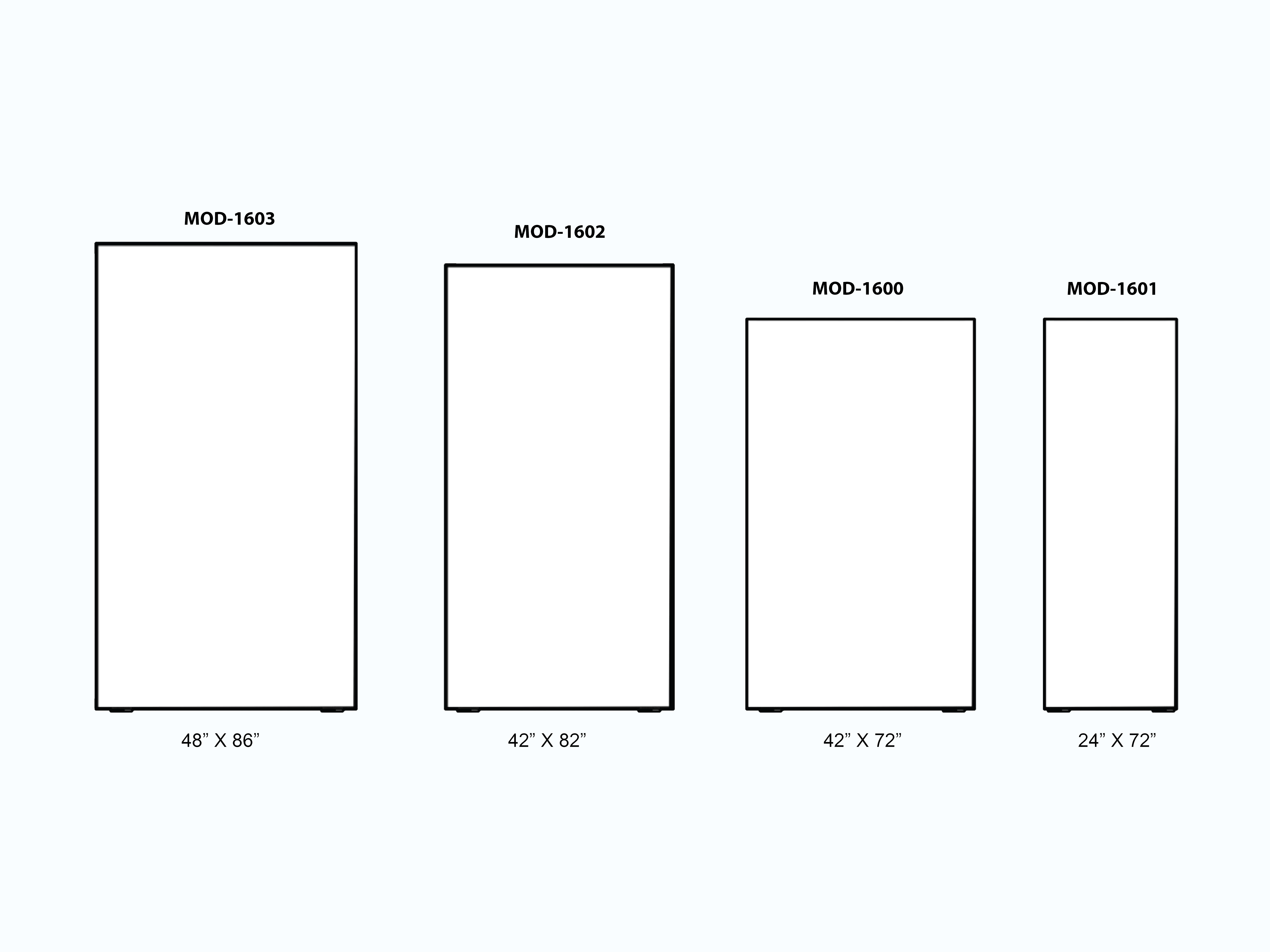 Freestanding Lightbox Dimensions -- Size Comparison