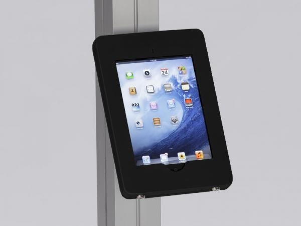 MOD-1316 Locking iPad Clamshell with Extrusion Attachment -- Black