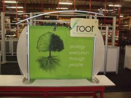 ECO-105T Sustainable Table Top Display with Paradise Fabric
