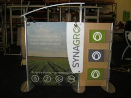 ECO-102T 6 ft. Table Top with custom Header Graphic Attachment by Eco-Systems Sustainable Exhibits -- Image 1